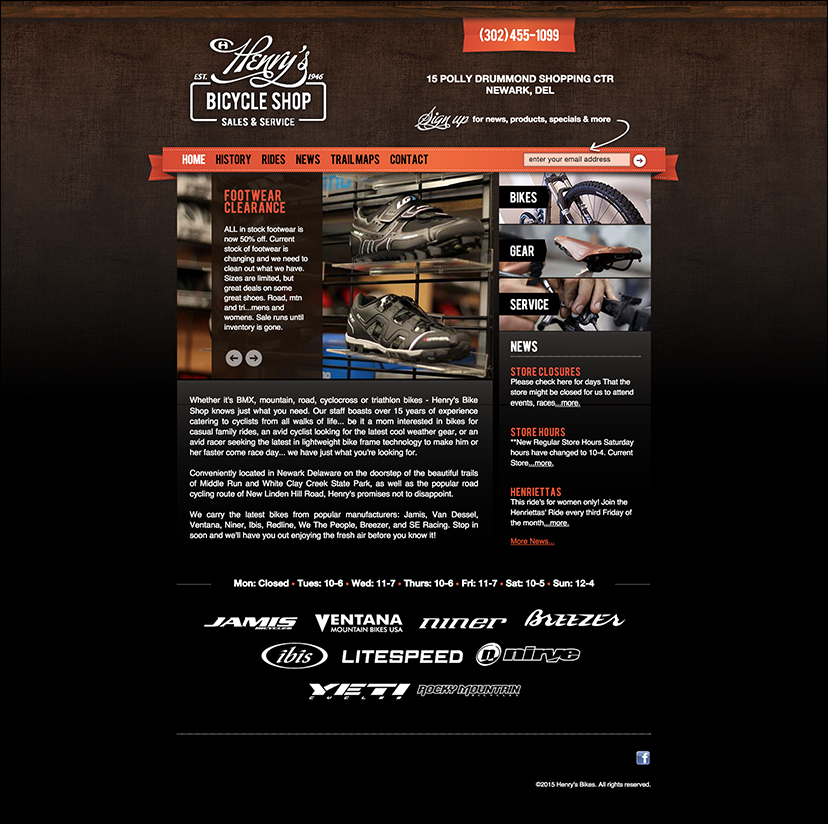Full Home Page - Henry's Bikes